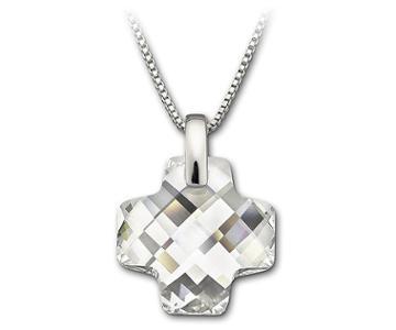Swarovski Swarovski Cross Pendant White Rhodium-plated