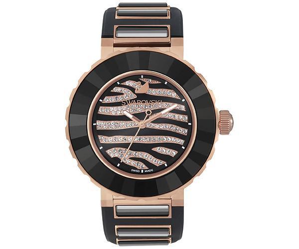 Swarovski Swarovski Octea Sport Zebra Rose Gold Tone Watch  Rose Gold-plated