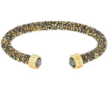 Swarovski Swarovski Crystaldust Cuff, Golden, Gold Plating Dark Multi Gold-plated