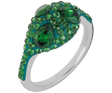 Swarovski Swarovski Atelier Swarovski Core Collection, Moselle Stacking Ring Green Rhodium-plated