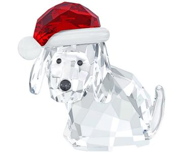 Swarovski Swarovski Dog With Santa's Hat Color Accents