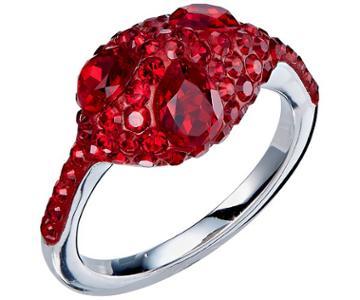 Swarovski Swarovski Atelier Swarovski Core Collection, Moselle Stacking Ring Red Rhodium-plated