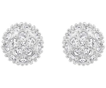 Swarovski Swarovski Emma Pierced Earrings White Rhodium-plated