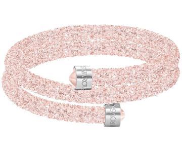 Swarovski Swarovski Crystaldust Double Bangle, Pink, Stainless Steel Pink Stainless Steel