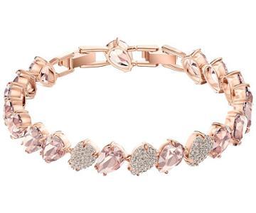 Swarovski Swarovski Mix Bracelet, Pink, Rose Gold Plating Pink Rose Gold-plated