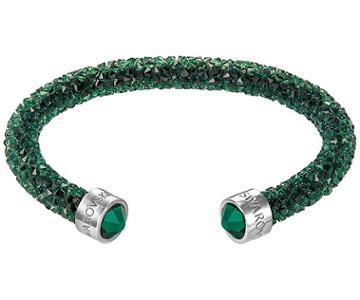Swarovski Swarovski Crystaldust Cuff, Green, Stainless Steel Green Stainless Steel