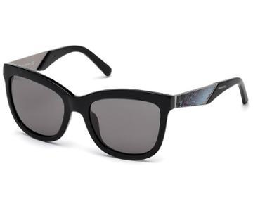 Swarovski Swarovski Sunglasses, Black Sk0125-f 01e