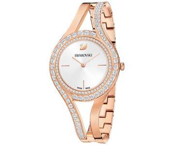 Swarovski Swarovski Eternal Watch, Metal Bracelet, White, Rose Gold Tone White Rose Gold-plated