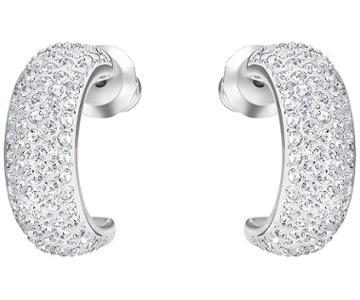 Swarovski Swarovski Palace Pierced Earrings, White, Rhodium Plating White Rhodium-plated