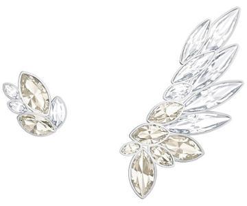 Swarovski Swarovski Lake Pierced Earring And Ear Cuff, Gray, Rhodium Plating Gray Rhodium-plated