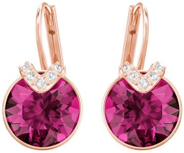 Swarovski Swarovski Bella V Pierced Earrings, Fuchsia, Rose Gold Plating Pink Rose Gold-plated