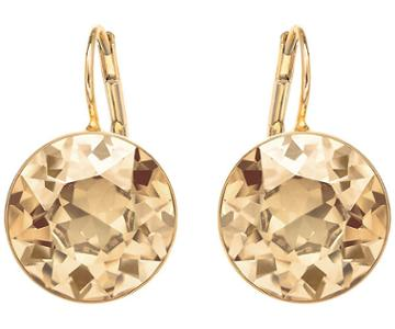 Swarovski Swarovski Bella Pierced Earrings Brown Gold-plated