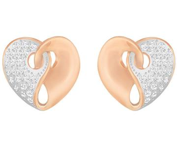 Swarovski Swarovski Guardian Stud Pierced Earrings, White White Rose Gold-plated