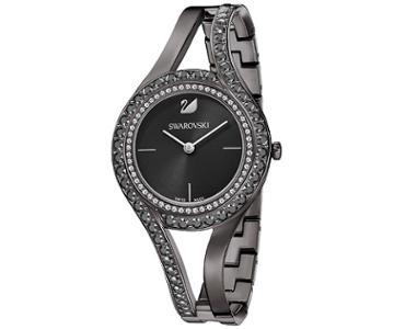 Swarovski Swarovski Eternal Watch, Metal Bracelet, Black, Gun Metal Tone White