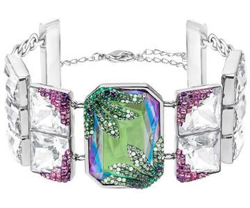 Swarovski Swarovski Gisele Bracelet, Green Light Multi Rhodium-plated