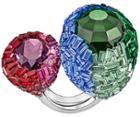 Swarovski Swarovski Euphory Ring Dark Multi Rhodium-plated