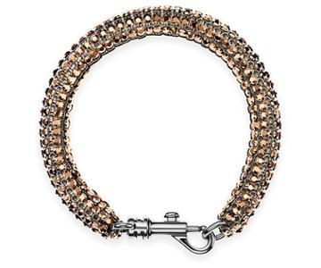 Swarovski Swarovski Skinny Single Bolster Bracelet, Palladium Plating Pink Rhodium-plated