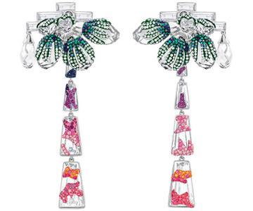 Swarovski Swarovski Good-mood Clip Earrings, Multi-colored Light Multi Rhodium-plated
