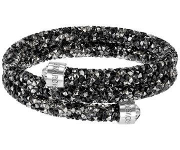 Swarovski Swarovski Crystaldust Double Bangle, Multi-colored, Stainless Steel Dark Multi Stainless Steel