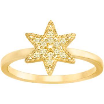 Swarovski Field Star Ring, Golden, Gold Plating