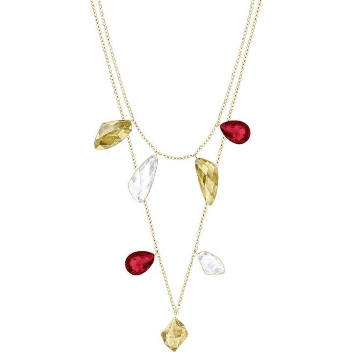 Swarovski Prisma Versatile Necklace, Multi-colored, Gold Plating