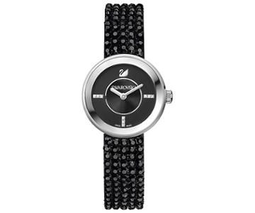 Swarovski Swarovski Piazza Mini Jet Mesh Watch Black Stainless Steel