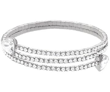 Swarovski Swarovski Twisty Triangle Bangle White