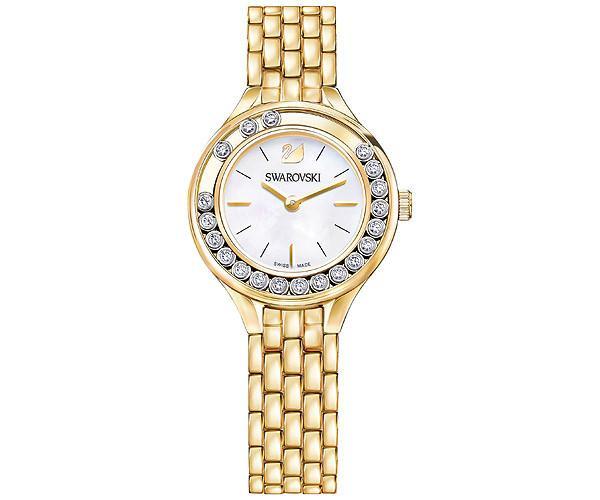 Swarovski Swarovski Lovely Crystals Mini Watch, Metal Bracelet, Gold Tone White Gold-plated