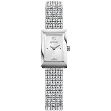 Swarovski Memories Watch, Crystal Mesh Strap, White, Silver Tone