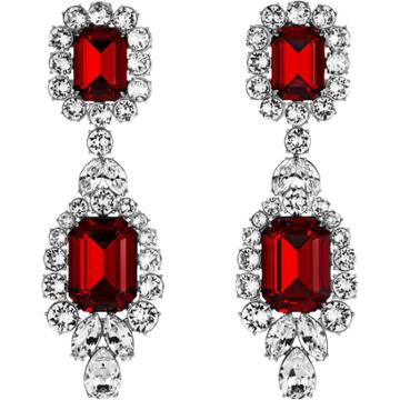 Swarovski Anna Dello Russo Pierced Earrings, Red, Palladium Plating
