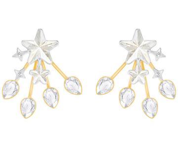 Swarovski Swarovski History Pierced Earring Jackets, White, Mixed Plating Gray