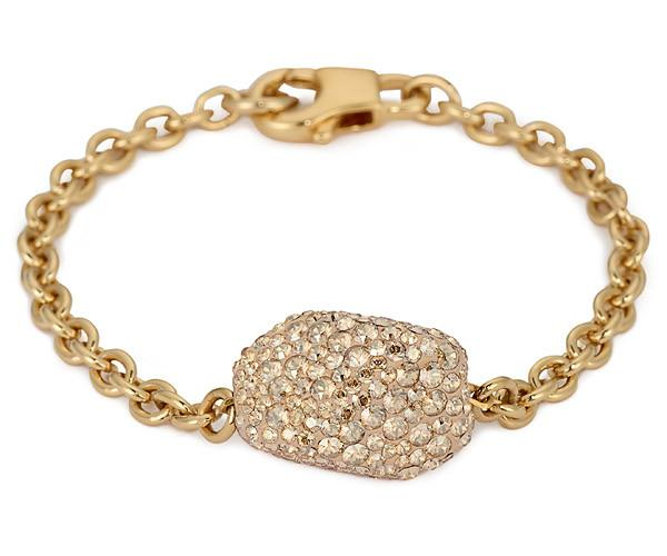 Swarovski Swarovski Atelier Swarovski, Single Bracelet Brown Gold-plated