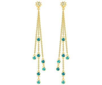 Swarovski Swarovski Last Summer Pierced Earrings, Multi-colored, Gold Plating Light Multi Gold-plated