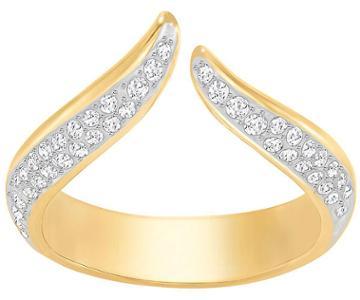 Swarovski Swarovski Groove Narrow Ring, White White Gold-plated