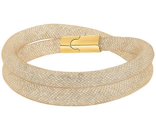 Swarovski Swarovski Stardust Beige Double Bracelet White Gold-plated