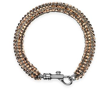 Swarovski Swarovski Skinnny Single Bolster Bracelet, Palladium Plating Pink Rhodium-plated