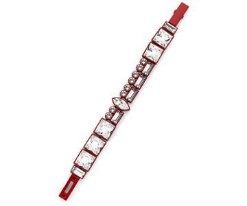 Swarovski Swarovski Domino Large Bracelet, Red Lacquer Plating White