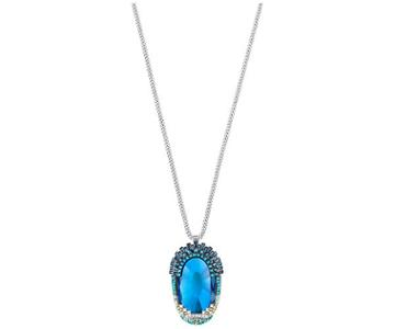 Swarovski Swarovski Homeric Pendant, Long, Multi-colored, Palladium Plating Dark Multi Rhodium-plated
