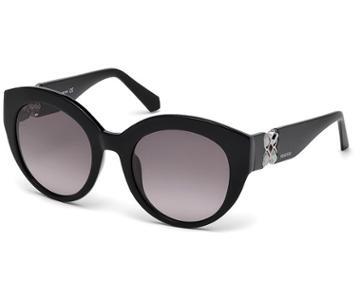 Swarovski Swarovski Swarovski Sunglasses, Sk0140 01b, Black