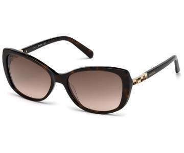 Swarovski Swarovski Swarovski Sunglasses, Sk0124 52f, Havana