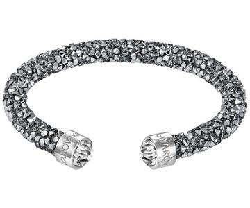 Swarovski Swarovski Crystaldust Cuff, Gray, Stainless Steel Gray Stainless Steel