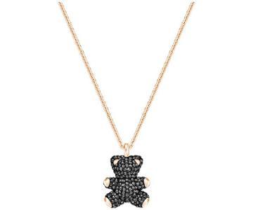 Swarovski Swarovski Teddy 3d Pendant, Black, Rose Gold Plating Teal Rose Gold-plated