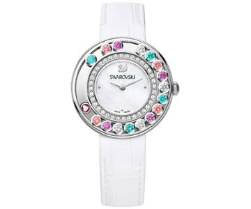 Swarovski Swarovski Lovely Crystals Multi-colored Watch White Stainless Steel