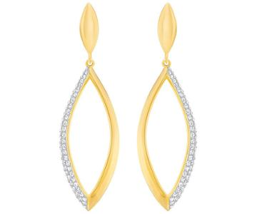 Swarovski Swarovski Grape Short Pierced Earrings, White White Gold-plated