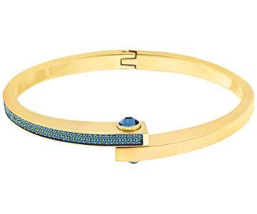 Swarovski Swarovski Get Narrow Bangle, Blue Teal Gold-plated
