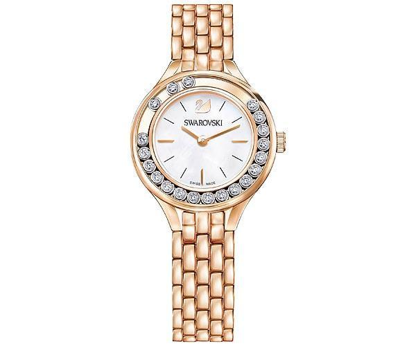 Swarovski Swarovski Lovely Crystals Mini Watch, Metal Bracelet, Rose Gold Tone White Rose Gold-plated