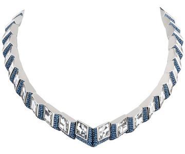 Swarovski Swarovski Atelier Swarovski Core Collection, Mira All-around Necklace Teal Rhodium-plated