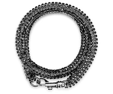 Swarovski Swarovski Skinny Double Bolster Bracelet, Palladium Plating Teal Rhodium-plated