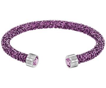 Swarovski Swarovski Crystaldust Heart Cuff, Purple Purple Stainless Steel