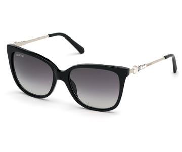 Swarovski Swarovski Swarovski Sunglasses, Sk0189-01b, Black